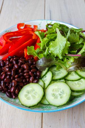 Salade met kidneybonen