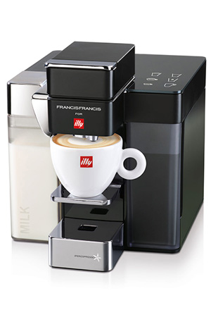 """one touch milk"" machine van illy: Y5 DUO MILK"