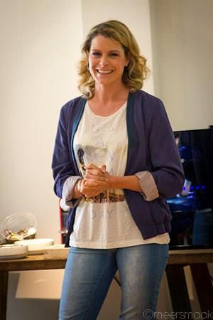 Dina Tersago met glimlach