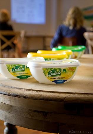 Balade Vital botervlootjes op een tafel