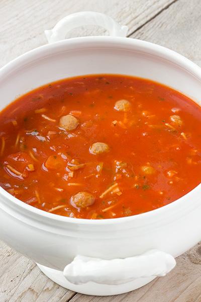 Oma's tomaten groentesoep