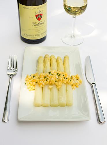 ideale wijn bij asperges