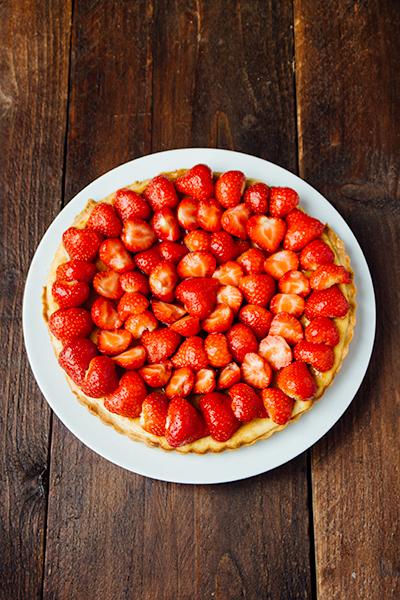 Lekkere aardbeientaart