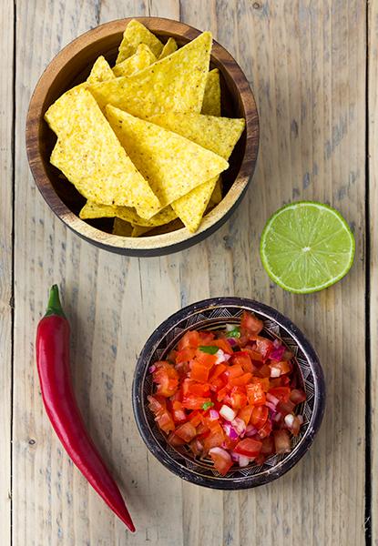 salsa van verse tomaten