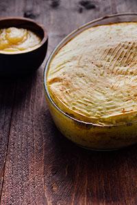 Ovenschotel met gehakt en aardappelpuree