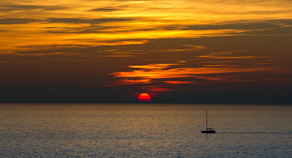 zonsondergang zeeland