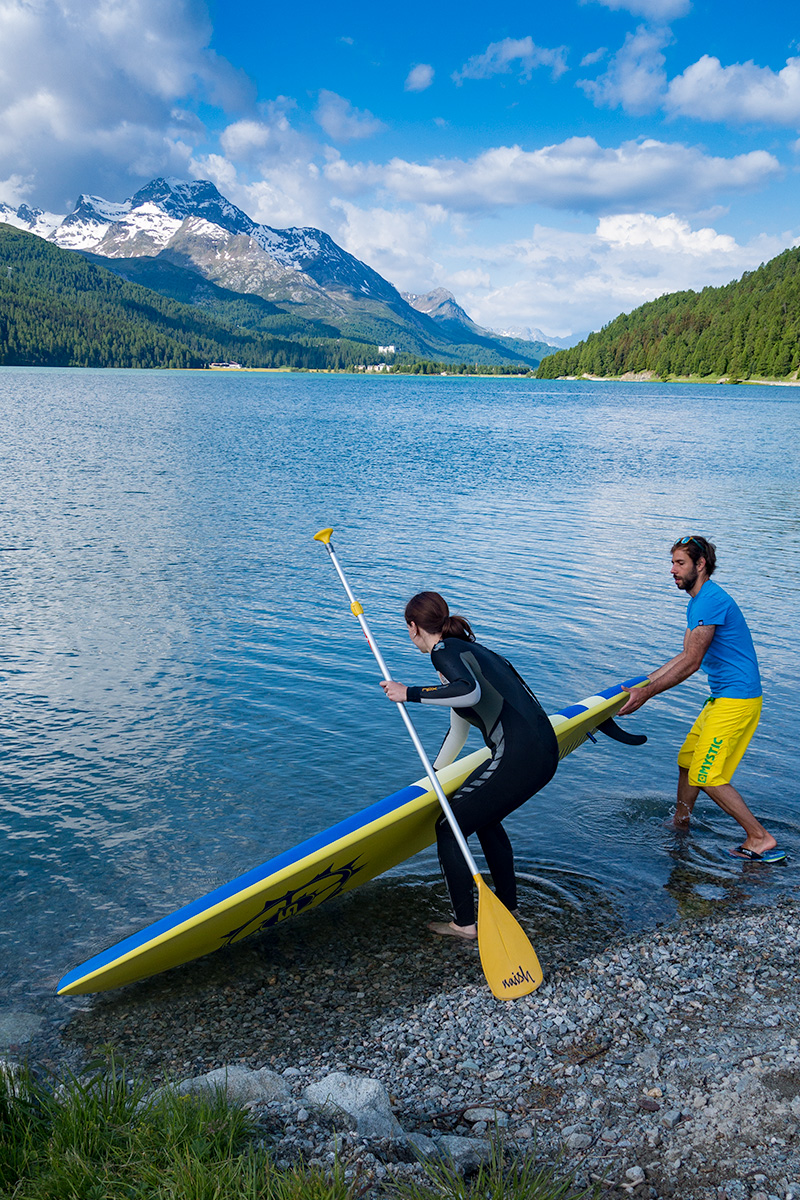 Stand up paddling Silvaplana