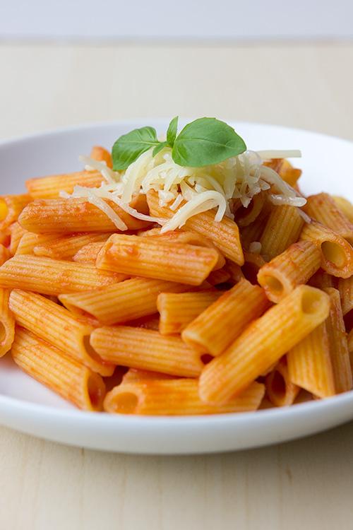 Penne-met-tomatensaus