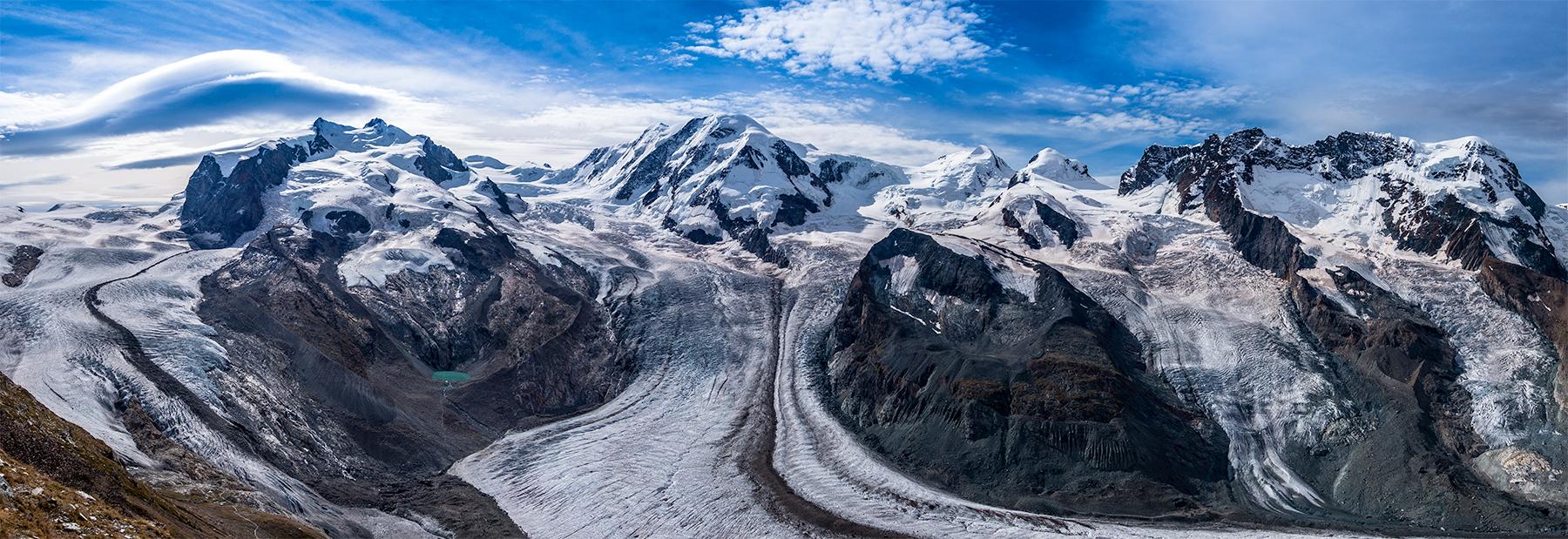 Monte Rosa massief met de dufourspitze