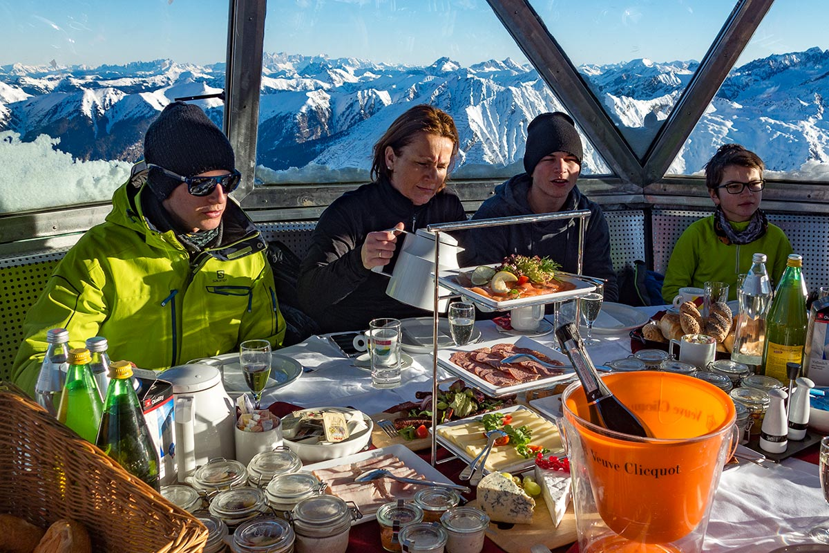 Alpine peak and gourmet breakfast