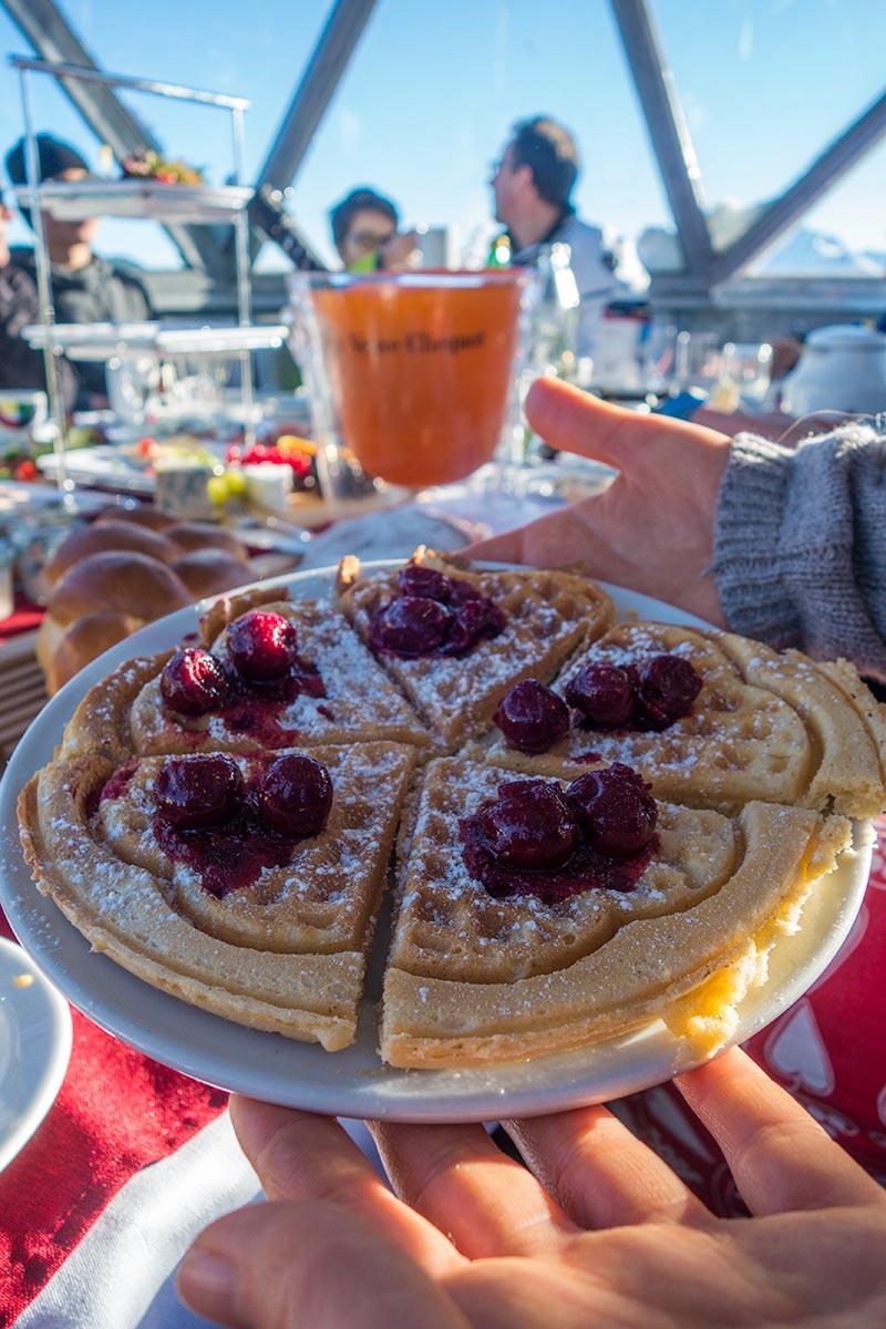 Alpine peak and gourmet breakfast