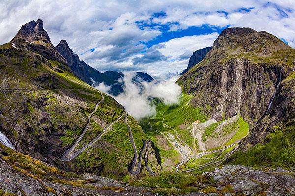 De Trollstigen in Noorwegen