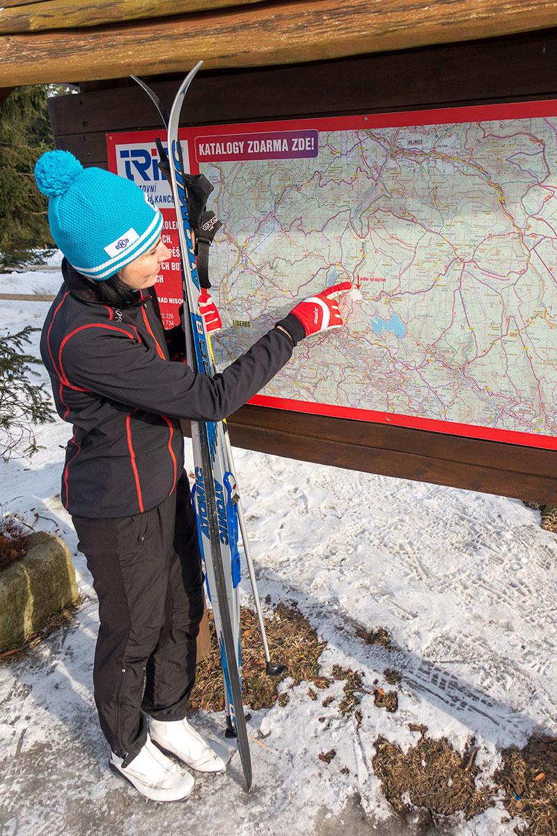 Langlaufen bij de Jizera Mountains Trails