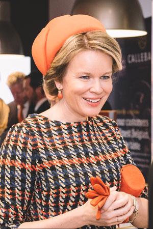 Koningin Mathilde bezoekt opleidingscentrum van Callebaut CHOCOLATE ACADEMY™ in Montréal
