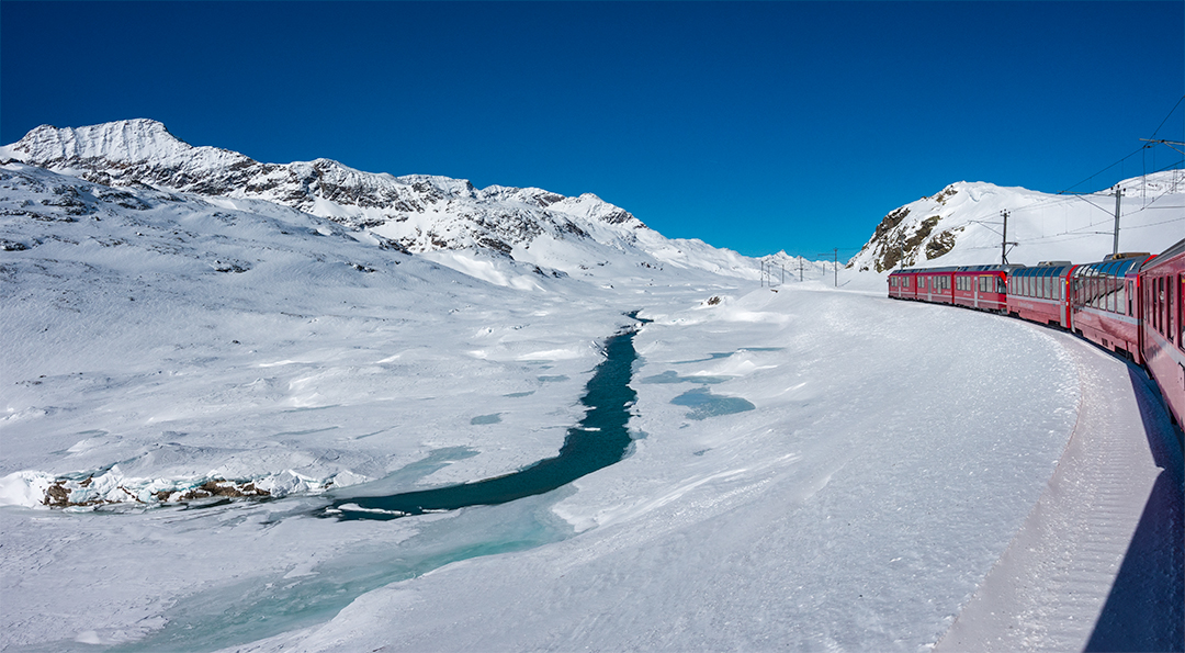 Een culinaire wintertrip met de Bernina Express
