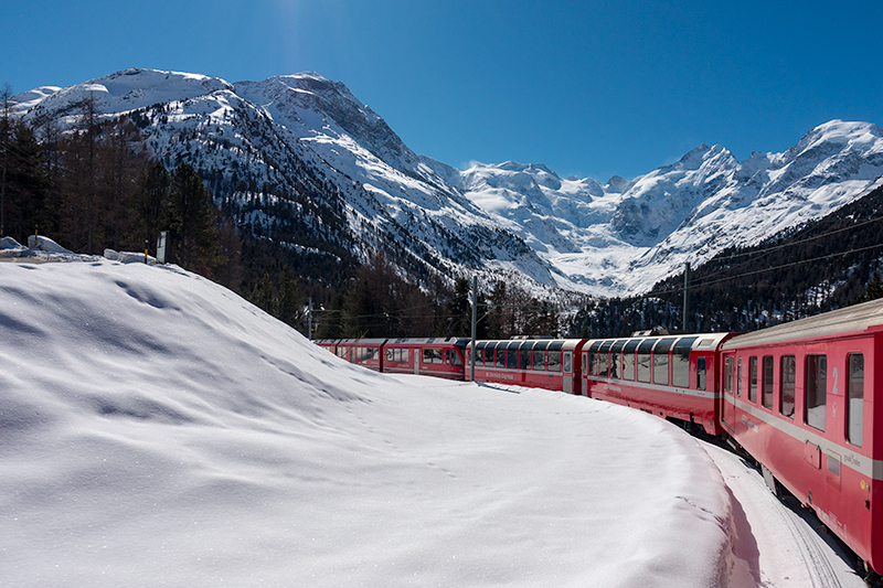 Morteratsch-gletsjer-Bernina-Express