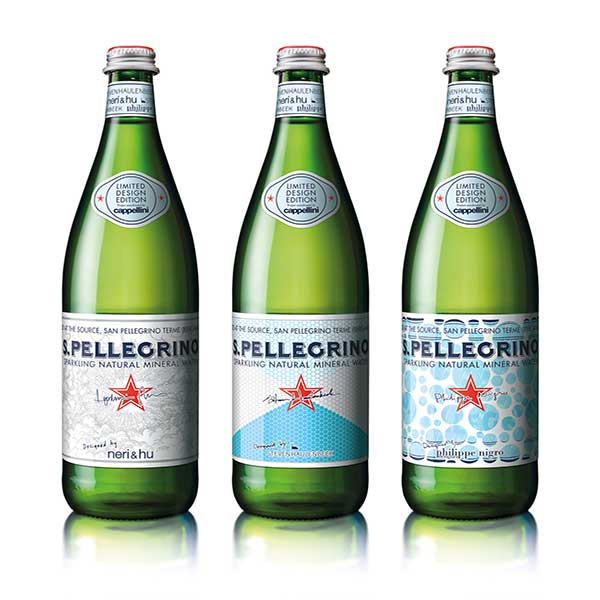 Limited edition flessen van S.Pellegrino tonen de 'journey of water'