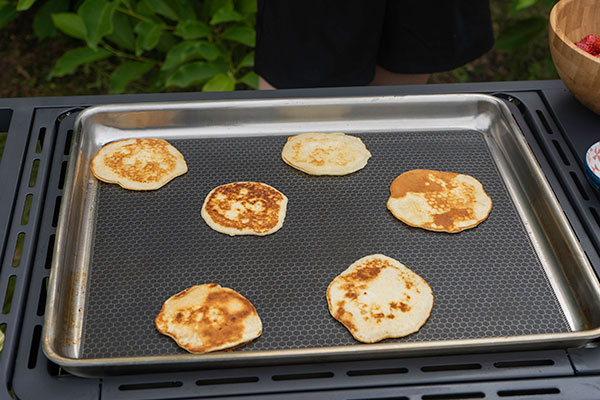 American pancakes plancha Victor Barbecook